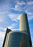 Business center buildings. New business center buildings in Moscow, Russia stock photos
