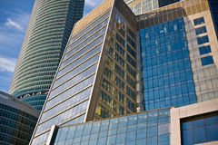 Business center buildings. New business center buildings in Moscow stock photography