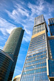 Business center buildings. New business center buildings in Moscow stock image