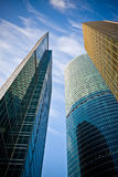 Business center buildings. New business center buildings in Moscow royalty free stock photos