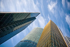 Business center buildings. New business center buildings in Moscow stock photo