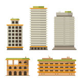 Business Center Buildings Set Royalty Free Stock Images