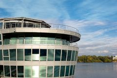 Business center in the city on the river. Stock Photography