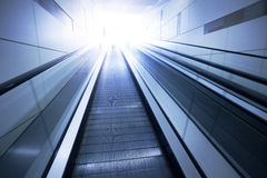 Business Center escalators. The vacant Business Center escalator royalty free stock photography