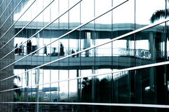 Business center glass. With people on the reflection Royalty Free Stock Photos
