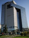 Business center Golden Gate on the Enthusiasts Highway, Moscow, Russia. Business center Golden gate is a modern, high-tech facility. It contains two skyscraper Stock Photos