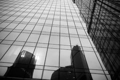 Business center with high skyscrapers. Business center in a large city with high skyscrapers in the eveningr Stock Image