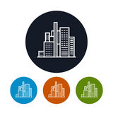 Business center icon, city icon Royalty Free Stock Image
