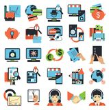Business center icons Royalty Free Stock Images