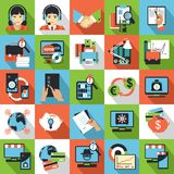 Business center icons Stock Photography