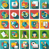 Business center icons Stock Image