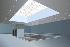 Business center interior stock illustration
