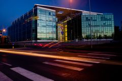 Business center -Late in the evening Stock Images