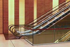 Business center lobby with escalators Stock Images