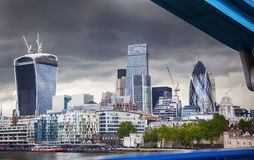 Business center of London. Panorama of business center of Londonfrom Tower Bridge Royalty Free Stock Images