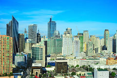 Business center of Manila, Philippines royalty free stock photography
