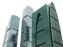 Business center of Moscow. Three buildings of Business center of Moscow, The City Royalty Free Stock Photo