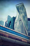 Business center Moscow City and the bridge Bagration Royalty Free Stock Photography
