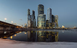 Business Center Moscow City at night. Stock Photos