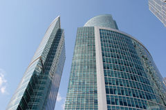 Business center Moscow City in Russia Stock Photos