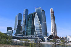 Business center Moscow-City Stock Image