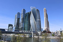 Business center Moscow-City Royalty Free Stock Photo