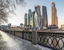 Business Center Moscow City. Royalty Free Stock Images