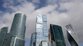 Business Center Moscow City. stock video footage