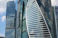 Business center Moscow-City. Skyscrepers: Capital City, Empire, Evolution. Moscow City. Skyscrapers of the business center Royalty Free Stock Photo
