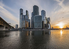 Business Center Moscow City at sunrise. Stock Images