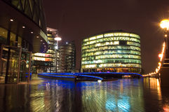 Business center at night, London Stock Photography