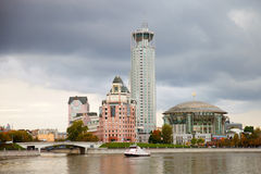 Business center Riverside Towers, Moscow, Russia Royalty Free Stock Images