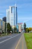 Business center Royal Plaza on Pobediteley Avenue, Minsk, Belaru Royalty Free Stock Images