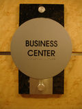 Business Center Sign. A sign at an exclusive center labeling the area for conducting business Royalty Free Stock Image