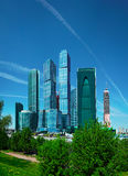 Business center with skyscrapers - Moscow City Royalty Free Stock Photo
