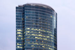 Business Center Tower on Quay Royalty Free Stock Photo