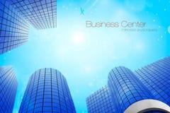 Business center. Vector illustration. Downtown, windows, tower stock illustration