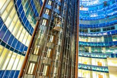 Business center walls Royalty Free Stock Images