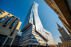 Business center in Warsaw Royalty Free Stock Photography