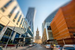Business center in Warsaw Stock Photo