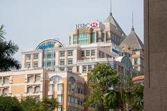 Business centers in Asia. Modern district in Saigon (Ho Chi Minh), Vietnam Stock Photography