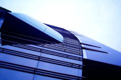 Business centre. Modern facade of a business centre royalty free stock images