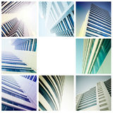 Business centre. Illustration of the architecture of the business centre Royalty Free Stock Images