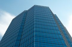 Business centre. On the blue sky background Royalty Free Stock Images