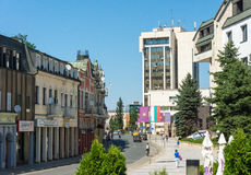 Business Centre Lovech, Bulgaria stock photography