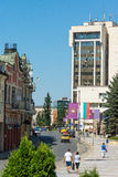 Business Centre Lovech in Bulgaria royalty free stock photos