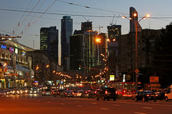 Business centre Moscow-city in Moscow, Russia royalty free stock photo