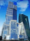 Business centre in moscow city, russia Stock Photos