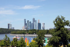 Business centre Moscow city, Russia Royalty Free Stock Images