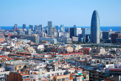 Business centre view. Aerial view of business centre of Barcelona, Spain, from Sagrada Familia Royalty Free Stock Photo